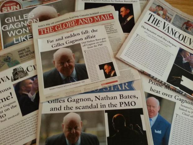 Truth and fiction in the prop newspapers of Finding Mr. Right.